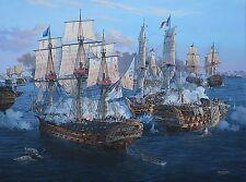 """Stand To Your Guns"" Tom Freeman Naval Print - Battle of Trafalgar 1805"