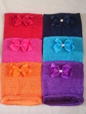 Diamante / Nudo Arco Crochet tubo superior Forrado Tutu suministros 8 X 10 Pulgadas De Diadema