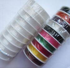 5 - 20 ROTOLI CHIARO ELASTICO GIOIELLI rendendo Stringhe / Threads / Cord 0,4 - 1mm