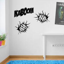 Kaboom due pugni MANI Smash Muro Adesivo Decalcomania KID ARREDAMENTO finestra colorata A162