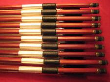 Wholesale!  Lot of 10 H.Q. Brazilwood Violin Bow 4/4