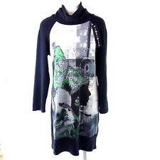 bc610be4e618bc INFINITY Damen Kleid Strickkleid 40 42 Schwarz Muster Pulloverkleid NP 169  NEU