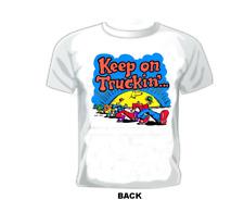 """Keep On Truckin""... T-Shirt Orange Lettering"