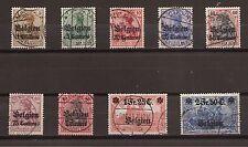 1916 Belgien aus Mi. 1-9 gestempelt Einzelmarken zur Auswahl