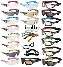 b9244a832f Gafas Gafas De Seguridad Bolle Rush +/Estuche Petaca Bolso de  almacenamiento de información Protección Ocular