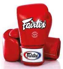 FAIRTEX MUAY THAI KICK BOXING GLOVES RED COLOR BGV1 TIGHT FIT DESIGN SPARRING