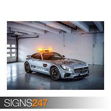 2015 MERCEDES AMG GT S SAFETY CAR (0027) Car Poster -  Poster Print A1 A2 A3 A4