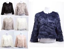Damas de imitación de piel de señoras Chaleco Fashion Chaleco chaqueta tamaño de Reino Unido