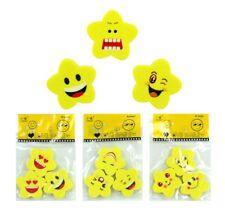 12 x / 24 x Radiergummi Stern Smile - ca. 3 cm - Mitgebsel Kindergeburtstag
