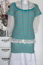 NOA NOA Shirt Top BASIC 2 x 2 RIB light striped - breath - Stripes blue