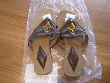 Womens Avon thong sandal flip flop embellished M 7/8 flip flops ladies