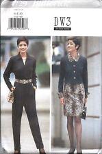 UNCUT Vintage Butterick SEWING Pattern Top Skirt Jumpsuit Belt DW3 OOP 4729 FF