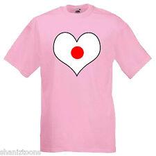 BANDIERA GIAPPONE Amore Cuore Children's Kids T Shirt