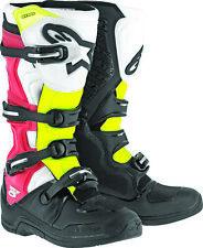 Alpinestars Tech 5 Boots Negro Blanco Rojo Amarillo