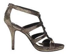 Women's Shoes Nina NY RAELYN Heels Dress Sandals Rhinestones Platino Lindi