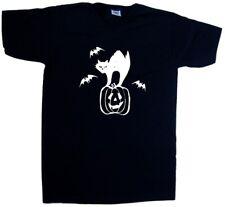 CAT bat zucca Halloween SCOLLO A V T-Shirt