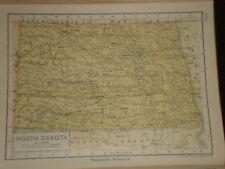 1929 ENCYCLOPEDIA BRITANNICA MAP NORTH DAKOTA USA