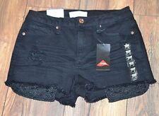"Mudd Shortie High Rise 2.5"" inseam Flex Stretch Short Black Denim Jean Shorts"