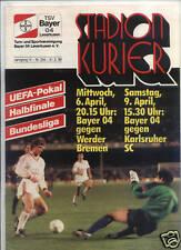 EC III SEMI FINAL 87/88 Bayer Leverkusen-Werder Bremen