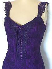 Purple Elegant Lace Casual, Beach, Western Wedding Attendant Dress