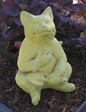 Cast Stone Cement Gardening Cat Outdoor Garden Statue