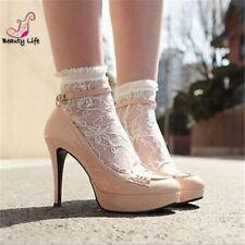 Women Girls Ankle Fancy Retro Lace Ruffle frilly princess Fashion Short Socks