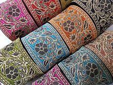 Beautiful embroidered pattern lace trimming ribbon Net Wedding dress 1Yard