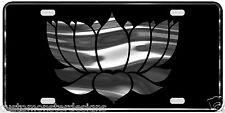 Lotus Flower License Plate Buddhism Religious S2 Chrome & Regular Vinyl Choice