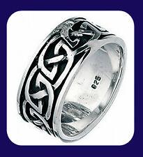 Men's Silver Wedding Band Sterling Silver Wedding Ring Celtic Ring