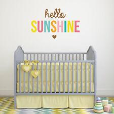 Hello Sunshine wall sticker | Nursery wall stickers | Quote wall stickers