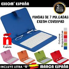 """Funda con Teclado en Español para Tablet 7"""" CoverPAD X70 Marca España Colores"""