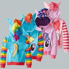Girls Kids Jacket Children Clothes Cute princess Hoodie Coat Pony Unicorn Wings