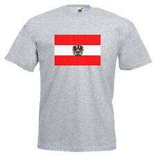 Austria Flag Adults Mens T Shirt
