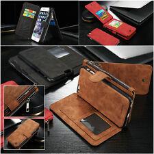 Caseme Leather Flip Card Wallet Phone Case For iPhone X SE 5 6 7 8 Samsung S8 S9