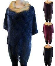 Women Poncho Cape Batwing Coat Sweater Jacket Cardigan Knit Top Winter Outwear