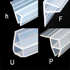 Shower Door Bath Screen Seal Strip | 6/8/10/12mm Glass | 0-10mm or 3-7mm Gap