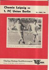 OL 83/84 1. FC Union Berlin - Chemie Leipzig, 23.05.1984 Abstiegs-Qualifikation