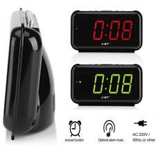 220V Electronic Digital LED Wall Desk Alarm Snooze Clock Large 1.8inch Screen GL