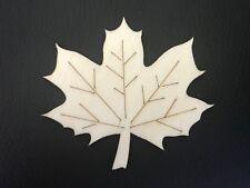 #7 Ahorn Blatt aus Holz 6 x 7 cm  Deko Bastel Herbst Bastelmaterial Bastelholz