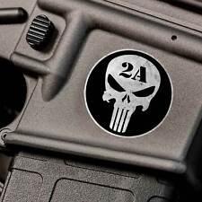 2nd Amendment Gun Sticker AR15 Skull 2A Emblem for Punisher iphone NRA 556 Jeep