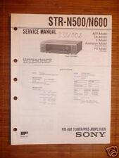 Service Manual Sony STR-N500/STR-N600 ,ORIGINAL