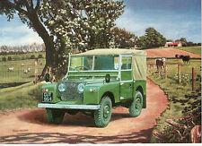 Land Rover series 1 landrover canvas  top Motoring art blank greeting  card