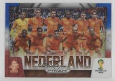2014 Panini Prizm World Cup Team Photos Blue & Red Wave Prizms 18 Nederland Card