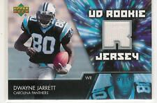 2007 UPPER DECK DWAYNE JARRETT ROOKIE JERSEY CARD RC
