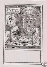 EX LIBRIS BOOKPLATE LILLIAN BARBOUR BENNETT