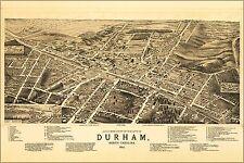 Poster, Many Sizes; Birdseye View Map Of Durham, North Carolina 1891