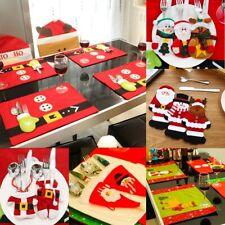 Noël Support Dîner Décoration De Table Couverts Sac Poches Décor Vaisselle Table