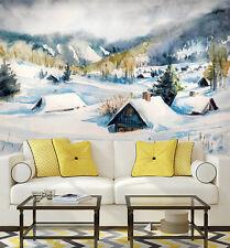 3D Cèdre Paysage 3 Photo Papier Peint en Autocollant Murale Plafond Chambre Art