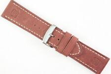 NAVYBOOT Uhrenarmband 26mm Robustes Kalbsleder Braun Länge: M Top Qualität