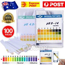 100 ph Test Strips ph 0-14 4.5-9 Alkaline Acid Urine/Saliva/Litmus Paper Sticks